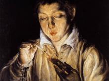 Эль Греко Мальчик, раздувающий лучину