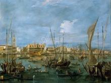 1619_100х130_Франческо Гварди - Венеция со стороны дока Святого Марка