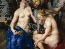 1549_90х64_Рубенс и Франс Снейдерс -- Нимфы с рогом изобилия