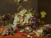 1552_100х125_Франс Снейдерс - Натюрморт с виноградом и добычей