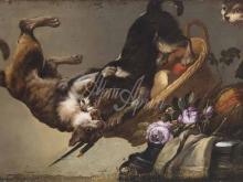 1569_80х49_Франс Снейдерс - Натюрморт с дерущимися котами