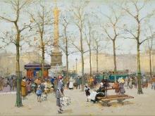 Эжен Гальен - Лалу. Париж,площадь Бастилии