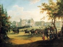 4008_56x40 Г.С. Сергеев - Гатчинский дворец. Вид с плаца