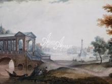 4009_64x40 Г.С. Сергеев - Мраморный мост в Пушкине