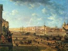 4013_38x28 Ф.Я. Алексеев - Вид на Адмиралтейство и Дворцовую набережную от Первого Кадетского корпуса