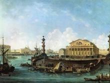 4017_38x28 Ф.Я. Алексеев - Вид на Биржу и Адмиралтейство от Петропавловской крепости