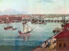 4033_38x28 А.Тозелли - Панорама Юго-Западной части  Петербурга в 1820 году