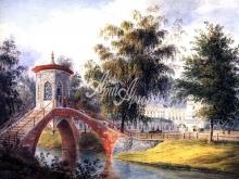 4041_50x36 Е.Мейер - Вид на Крестовский мостик и Большой Царскосельский дворец