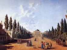 4042_60x37 Г.С.Сергеев - Вид дворца из сада в Павловске