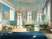 4047_54x40 А.Кольб - Голубая гостиная в Екатерининском дворце