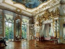 4048_57x40 Л.Премацци - Опочивальня Александра Первого в  Екатерининском дворце