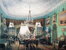 4050_51x40 Л.Премацци - Гостиная в Петергофском дворце