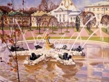 4084_40x40 А.Н.Блиок - Весна идет в Верхнем парке. Петергоф