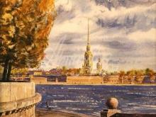 4093_60х44 вид на Петропавловскую крепость