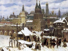 4163_60х32_Васнецов Апполинарий - Всехсвятский каменный мост. Москва конца XVII века