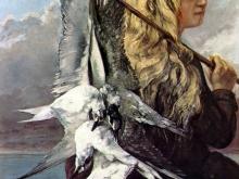 1950_45х36_Гюстав Курбе  - Девушка с чайками, 1865г