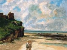 1952_50х41_Гюстав Курбе  - Пляж в Сент-Обен-сюр-Мер