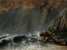 1953_65х45_Гюстав Курбе  - Морской пейзаж, гроза