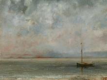 1963_90х72_Гюстав Курбе  - Морской пейзаж с лодкой