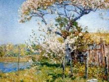 3321_50х42_Ф. Хассам - Яблони в цвету