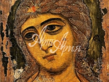 2061_50х40 Икона - Архангел Гавриил. Ангел Златые власы