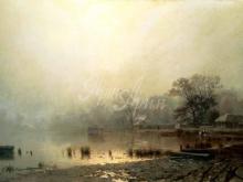 2549_60х36_Л.Л. Каменев - Туман. Красный пруд в Москве осенью