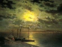 2553_70х42_Л.Л. Каменев - Лунная ночь на реке