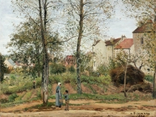 1685_100х131_К. Писсарро - Пейзаж в Лувесьенне (осень)