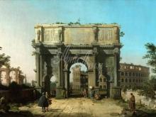 1616_120х81_А.Каналетто - Вид арки Константина с колизеем