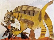 1155_44x32 П. Пикассо - Кот пожирающий птицу