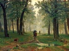 2089_100х162 И.И. Шишкин - Дождь в дубовом лесу