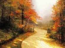 3286_100х83_Т. Кинкейд - Осенняя аллея