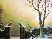 2057 _ 47х61 Ю.Ю. Клевер «Забытое кладбище»