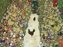 1632_60х59_Г. Климт - Садовая аллея с курицами