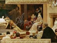 1654_110х46_Г. Климт - Ромео и Джульетта в лондонском театре Глобус (фреска)