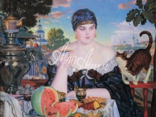 2030_65х65 Кустодиев Б.М. - Купчиха за чаем