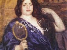 2031_77x90 Кустодиев Б.М. - Красавица перед зеркалом