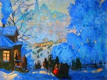 2087_70x52-Б.М.Кустодиев - Зима