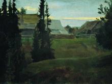 boris-kustodiev-derevnya-maurino-kostromskoy-gubernii
