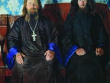 boris-kustodiev-portret-svyashhennika-i-dyakona-svyashhenniki-na-prieme