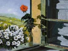 Л011_88х100_Гвидо Борелли - Роза на окне