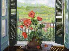 Л012_87х100_Гвидо Борелли - Цветы у окна