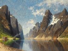 Л033_66х100_Елизабет Груттефайн - Озеро в горах