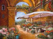 Л055_83х100_Гвидо Борелли - Рынок под сводами арки
