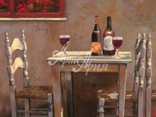 Л123_100х100_Гвидо Борелли - За бутылочкой вина