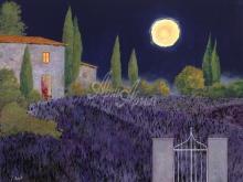 Л185_Гвидо Борелли - Лавандовое поле. Ночь