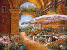 Л248_100х120_Гвидо Борелли - Цветочный рынок