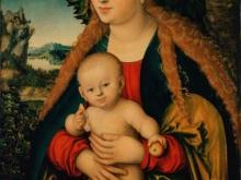 Кранах Лукас. Мадонна с младенцем под яблоней