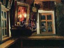 2455_50х47_В.М.Максимов - Красный угол в избе. 1869