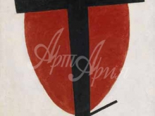 2359_70х41_К.С. Малевич - Черный крест на красном овале